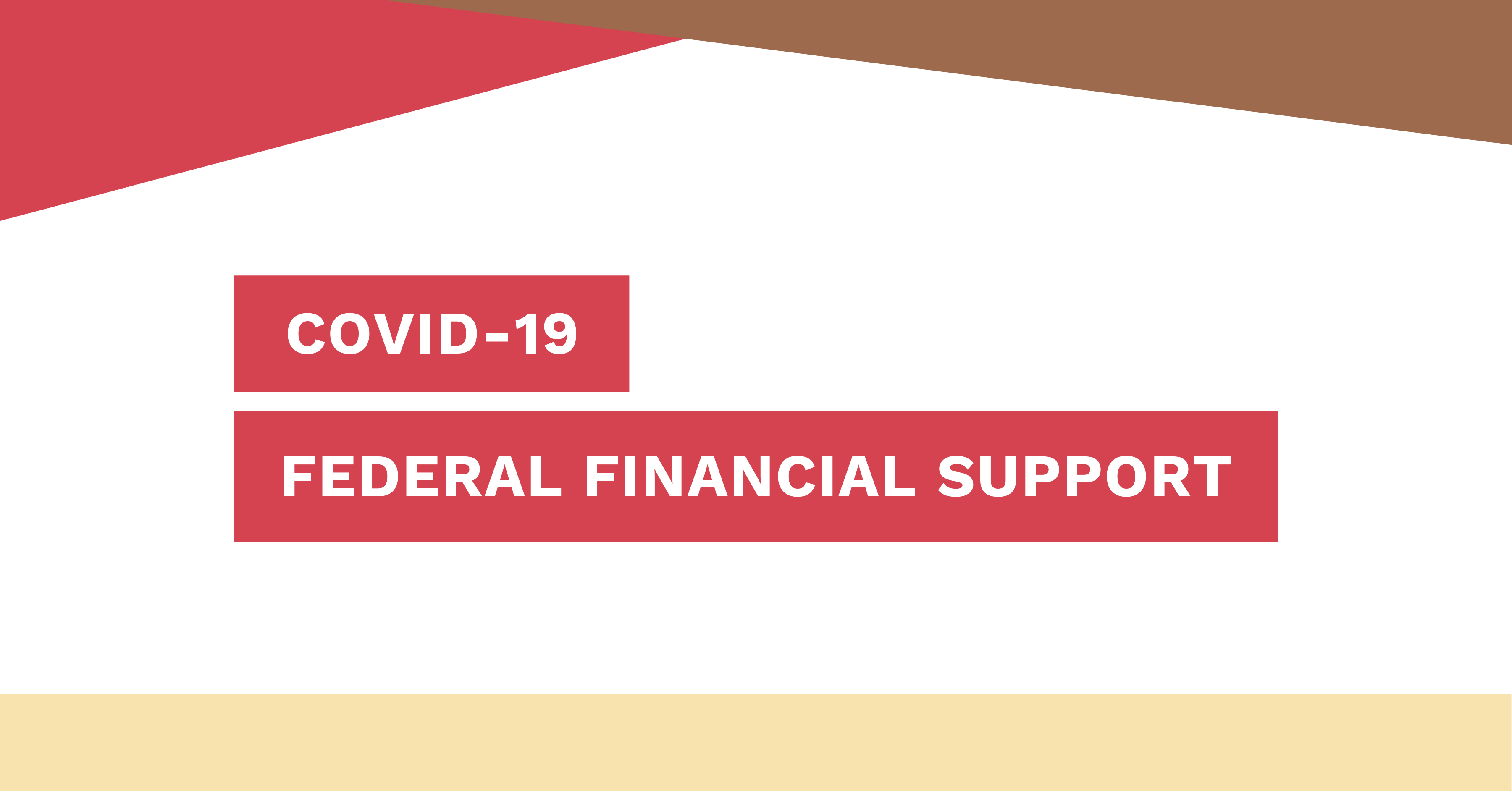 Federal Financial Support – Website Cover Photo
